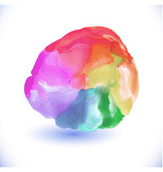 abstract watercolor rainbow gradient background vector image