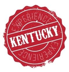 Kentucky stamp rubber grunge vector image vector image