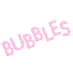 pink bubbles sign made from soap bubbles pink vector image