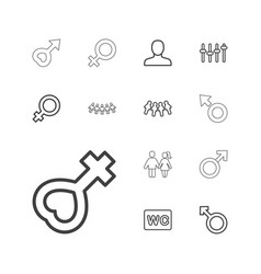 13 gender icons vector
