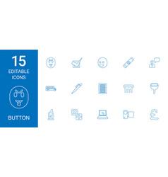 15 button icons vector