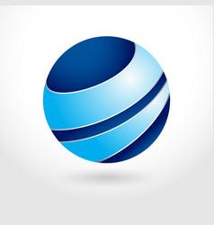 3d global management symbol graphic design vector image