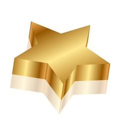 3d of gold star vector image
