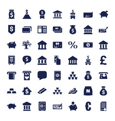 49 banking icons vector
