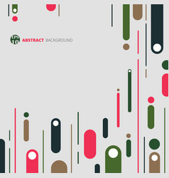 abstract of retro geometric pattern background vector image