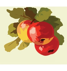 Apple fruits Watercolor vector