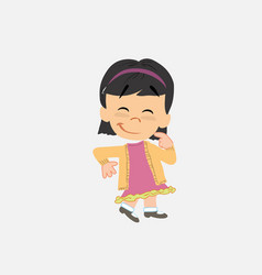 Asian girl with funny expression vector
