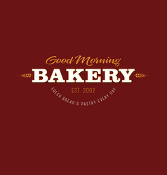 Bakery and pastry logo vector