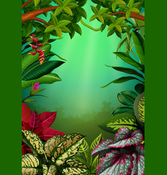 Beautiful walpaper with the aglomena leaves vector
