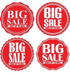Big sale save up to 80 red label set vector