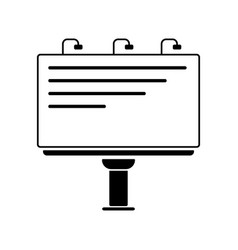 Billboard line icon outline vector