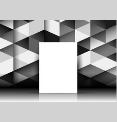 Blank canvas on abstract geometric wall vector