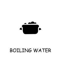 boiling water flat icon vector image