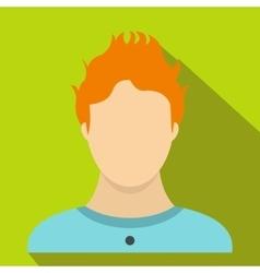 Boy icon flat style vector