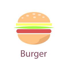 burger closeup poster icon vector image