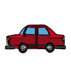 Car side view icon automobile vehicle vector