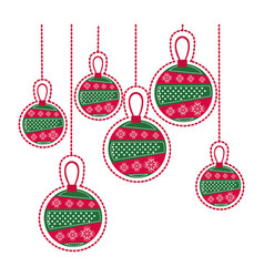 Cartoon set collection garlands christmas vector