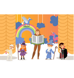 children theatre performance vector image