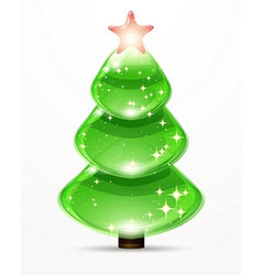 Christmas tree from design elements background vector image