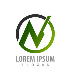 circle letter n logo concept design symbol vector image