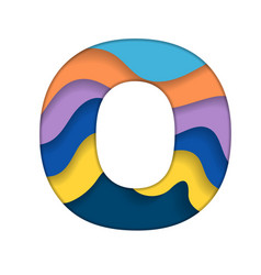 Colorful letter o vector