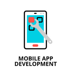 Concept mobile app development icon vector
