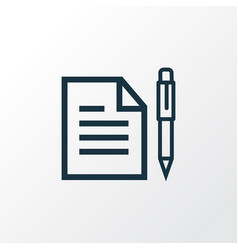 Contract outline symbol premium quality isolated vector