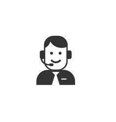 customer service icon vector image
