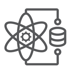 Data science line icon data and analytics vector