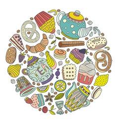 Dessert concept vector image
