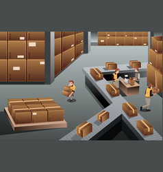 Distribution warehouse vector