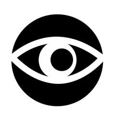 eye view symbol icon vector image