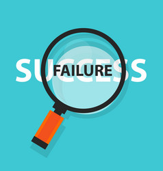 Failure success concept business analysis behind vector