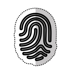 finger print isolated icon vector image