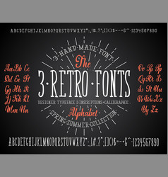 Font chalk handmade - modular and hand-written vector