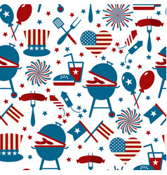 fourth july party and memorial day icons vector image