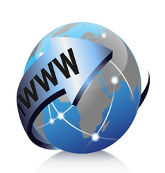 global internet vector image