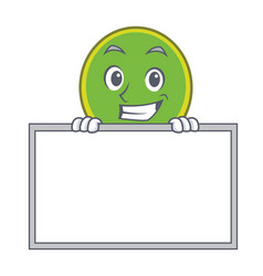 Grinning with board ping pong racket character vector