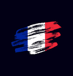grunge textured french flag vector image