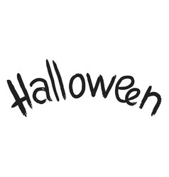 halloween text icon simple style vector image