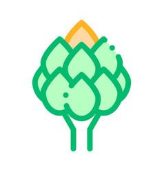 healthy food vegetable artichoke sign icon vector image