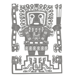 icon with viracocha vector image