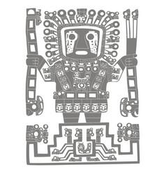 Icon with viracocha vector