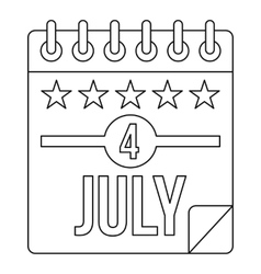 Independence day icon outline style vector