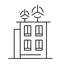 intelligent building icon outline style vector image