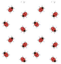 Ladybug seamless pattern ladybird repeating vector