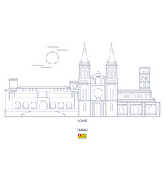 Lome city skyline vector