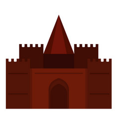 medieval palace icon isolated vector image