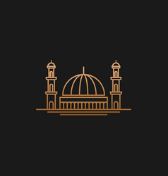 Modern decoration design mosque icon lineart vector