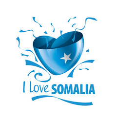 National flag somalia in shape a vector